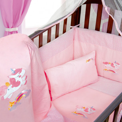 Πάπλωμα Κούνιας 100X140 Dimcol Unicorn 41 Ροζ