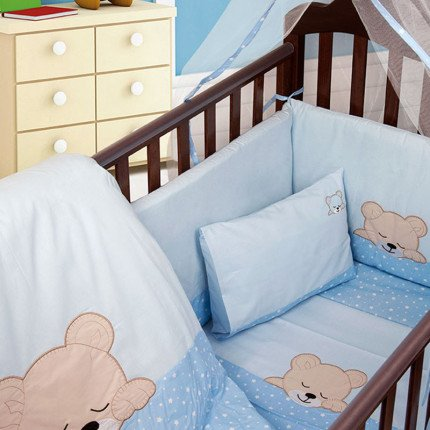 Σετ Κούνιας (3 Τμχ) Dimcol Sleeping Bears Cub 13 Σιελ