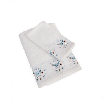 Βρεφικές Πετσέτες (Σετ 2 Τμχ) Dimcol Airplane 51 Λευκό