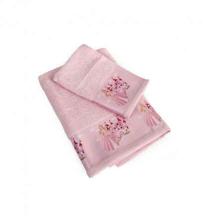 Βρεφικές Πετσέτες (Σετ 2 Τμχ) Dimcol Queen 68 Ροζ