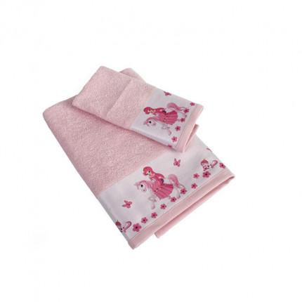 Βρεφικές Πετσέτες (Σετ 2 Τμχ) Dimcol Unicorn Princess 78 Ροζ