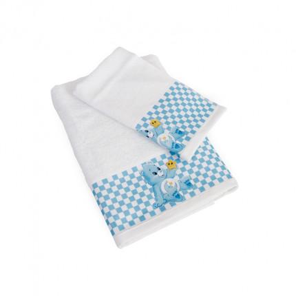 Βρεφικές Πετσέτες (Σετ 2 Τμχ) Dimcol Baby Bear 81 Λευκό