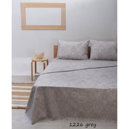 Σεντόνια Μονά (Σετ) 100% Βαμβάκι 1226 Grey