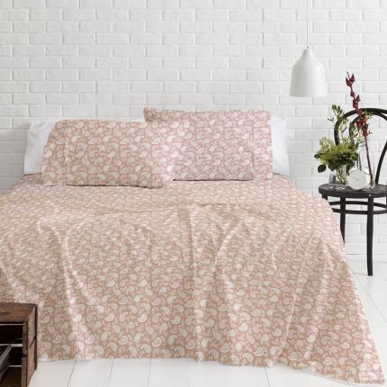 Φανελένια Σεντόνια Μονά (Σετ) 100% Βαμβάκι 1232 Pink
