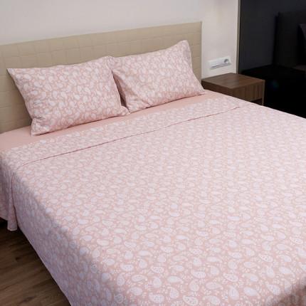 Σεντόνια Διπλά (Σετ) 100% Βαμβάκι 1232 Pink