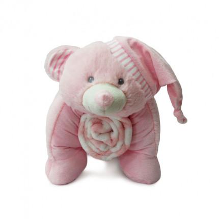 Κουβέρτα Fleece 50Cm Dimcol Ελεφαντακι 08 Ροζ