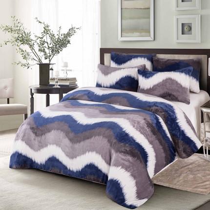 Κουβερτοπαπλωμα Υπέρδιπλο 220Χ240 Dimcol Fleece Flannel 700 Gsm 1850 Σιελ