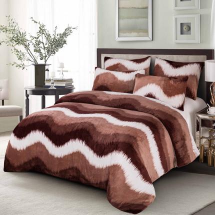 Κουβερτοπαπλωμα Μονό 160X220 Dimcol Fleece Flannel 700 Gsm 1850 Καφε
