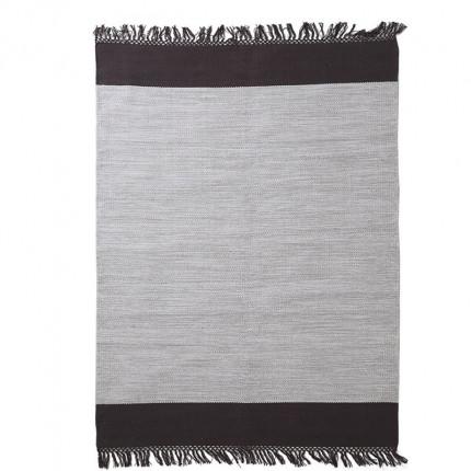 Χαλί Σαλονιού All Season Royal Carpet Urban Cotton Kilim 0.70X1.40 - Flitter Black
