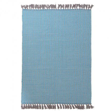 Χαλί Σαλονιού All Season Royal Carpet Urban Cotton Kilim 0.70X1.40 - Houndstooth Caribbean Sea
