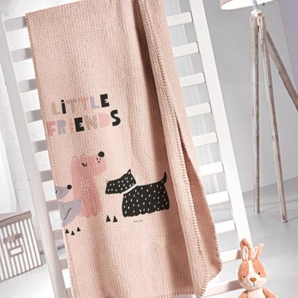 Κουβέρτα Βελουτέ Μονή 160X220 Saint Clair Ultrasoft Doggy Pink