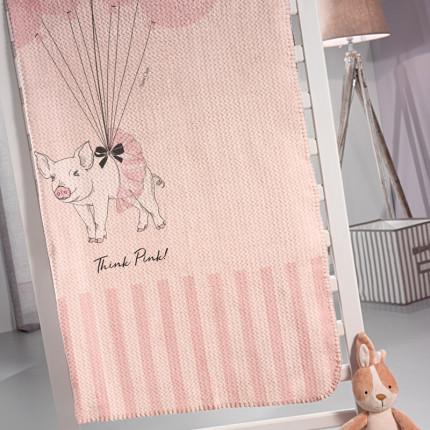 Κουβέρτα Βελουτέ Μονή 160X220 Saint Clair Ultrasoft Piggy