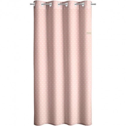 Κουρτίνα Με Τρουκς 160X240 Saint Clair Soft-Touch Polka Dots Pink