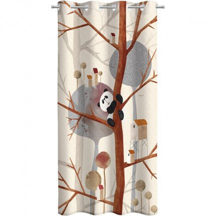 Κουρτίνα Με Τρουκς 160X240 Saint Clair Soft-Touch Panda
