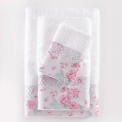 Πετσέτες Μπάνιου (Σετ 3 Τμχ) Rythmos Amelie Φασα Λιλα Κουτί