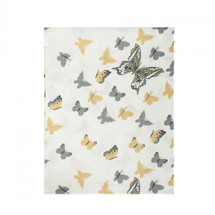 Σεντόνι Λίκνου 80X110 Dimcol Butterfly 55 Beige Χωρίς Λάστιχο