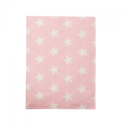 Σεντόνι Λίκνου 80X110 Dimcol Star 32 Ροζ Χωρίς Λάστιχο