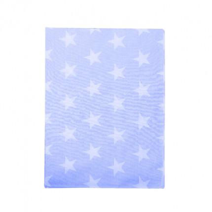 Σεντόνι Λίκνου 80X110 Dimcol Star 33 Σιελ Χωρίς Λάστιχο