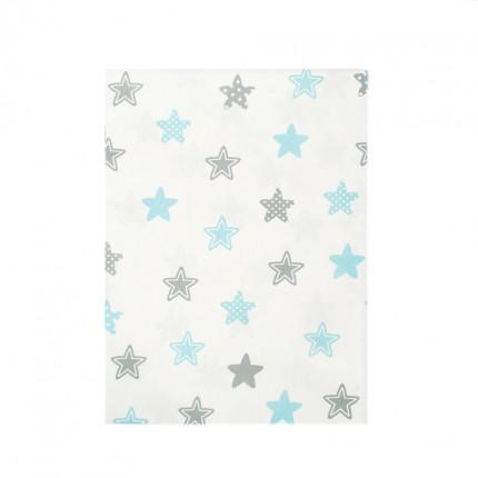 Σεντόνι Λίκνου 80X110 Dimcol Star 104 Sky Χωρίς Λάστιχο