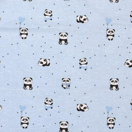 Σεντόνι Μεμονωμένο Λίκνου 80X110 Dimcol Panda 110 Μπλε Χωρίς Λάστιχο