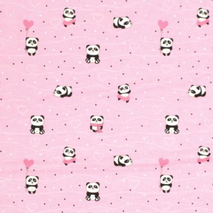 Σεντόνι Μεμονωμένο Λίκνου 80X110 Dimcol Panda 111 Ροζ Χωρίς Λάστιχο