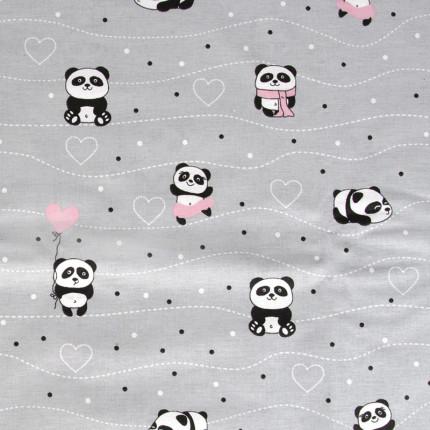 Σεντόνι Μεμονωμένο Λίκνου 80X110 Dimcol Panda 113 Ροζ Χωρίς Λάστιχο