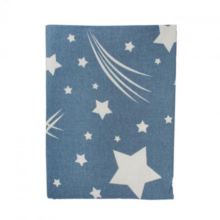 Πάνα Φανελένια 80X80 Dimcol Star 37 Blue