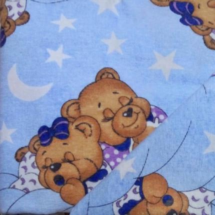 Πάνα Φανελένια 80X80 Dimcol Sweet Dreams 69 Μπλε