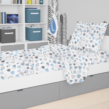 Παπλωματοθήκη Μεμωνομένη Κούνιας 120X160 Dimcol Hearts 08 Blue
