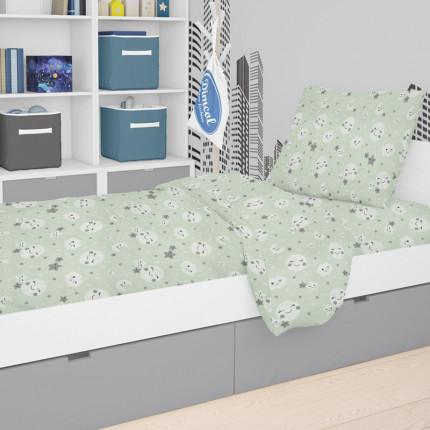 Παπλωματοθήκη Μεμωνομένη Κούνιας 120X160 Dimcol Smile 80 Green