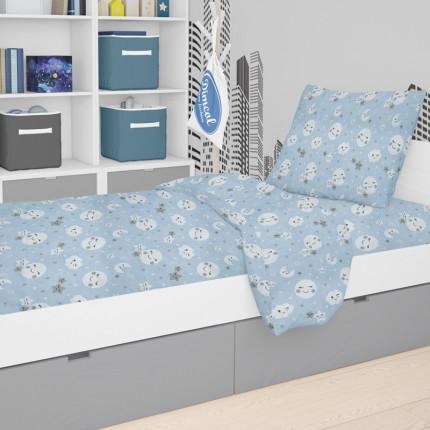 Παπλωματοθήκη Μεμωνομένη Κούνιας 120X160 Dimcol Smile 81 Blue