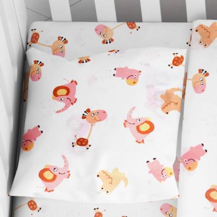 Μαξιλαροθήκη Τεμάχιο 35X45 Dimcol Elephant 72 Ροζ