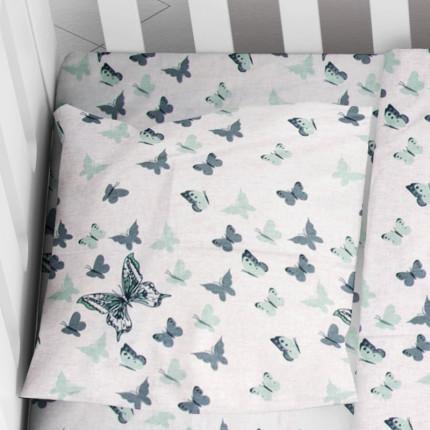 Μαξιλαροθήκη Τεμάχιο 35X45 Dimcol Butterfly 57 Πράσινο