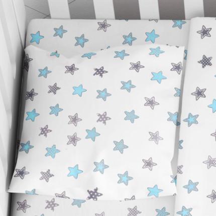 Μαξιλαροθήκη Τεμάχιο 35X45 Dimcol Star 104 Μπλε