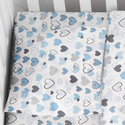 Μαξιλαροθήκη Τεμάχιο 35X45 Dimcol Hearts 08 Μπλε