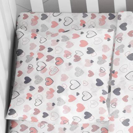 Μαξιλαροθήκη Τεμάχιο 35X45 Dimcol Hearts 09 Coral