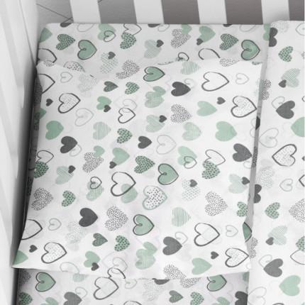 Μαξιλαροθήκη Τεμάχιο 35X45 Dimcol Hearts 10 Πράσινο
