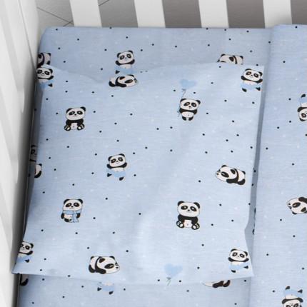 Μαξιλαροθήκη Τεμάχιο 35X45 Dimcol Panda 110 Μπλε