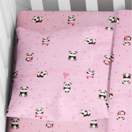 Μαξιλαροθήκη Τεμάχιο 35X45 Dimcol Panda 111 Ροζ