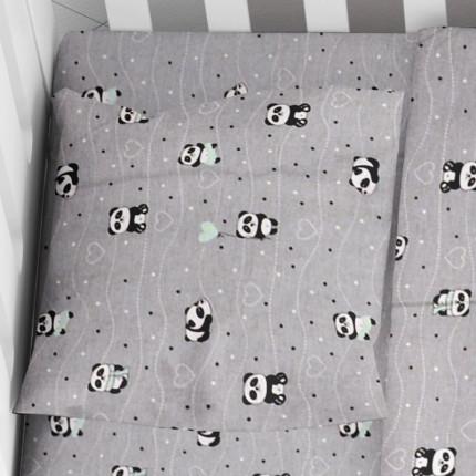 Μαξιλαροθήκη Τεμάχιο 35X45 Dimcol Panda 112 Γκρι