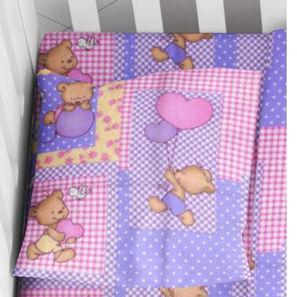 Φανελένια Μαξιλαροθήκη Τεμάχιο 35X45 Dimcol Baloon 75 Pink
