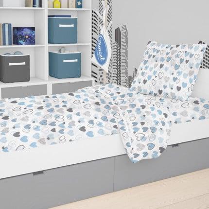 Πάπλωμα Κούνιας 120X160 Dimcol Hearts 08 Blue