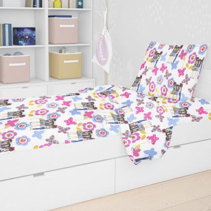 Πάπλωμα Κούνιας 120X160 Dimcol Girls 59 Λιλά