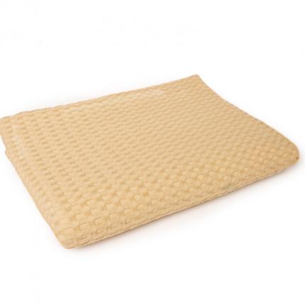 Κουβέρτα Πικέ Μονή 165X255 Dimcol Μονόχρωμη Ωχρα Κίτρινο