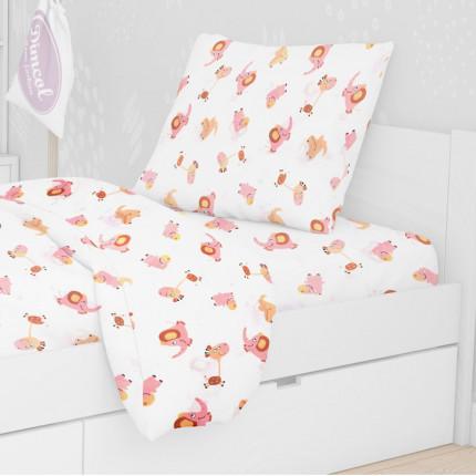 Μαξιλαροθήκη Τεμάχιο 50X70 Dimcol Elephant 72 Pink