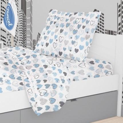 Μαξιλαροθήκη Τεμάχιο 50X70 Dimcol Hearts 08 Blue