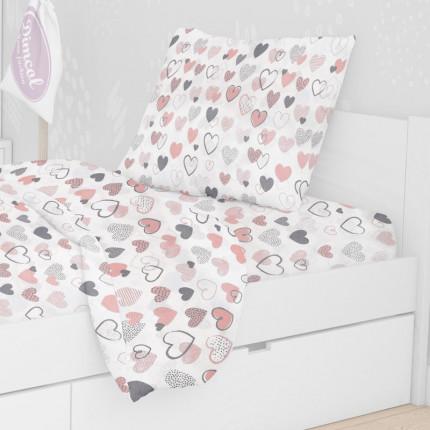 Μαξιλαροθήκη Τεμάχιο 50X70 Dimcol Hearts 09 Coral