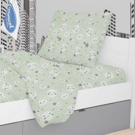Μαξιλαροθήκη Τεμάχιο 50X70 Dimcol Smile 80 Green