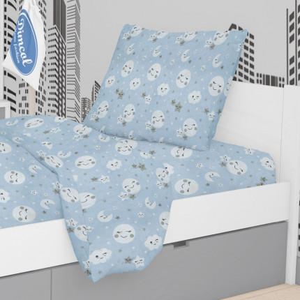 Μαξιλαροθήκη Τεμάχιο 50X70 Dimcol Smile 81 Blue
