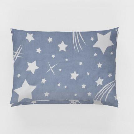 Φανελένια Μαξιλαροθήκη Τεμάχιο 50X70 Dimcol Star 37 Blue